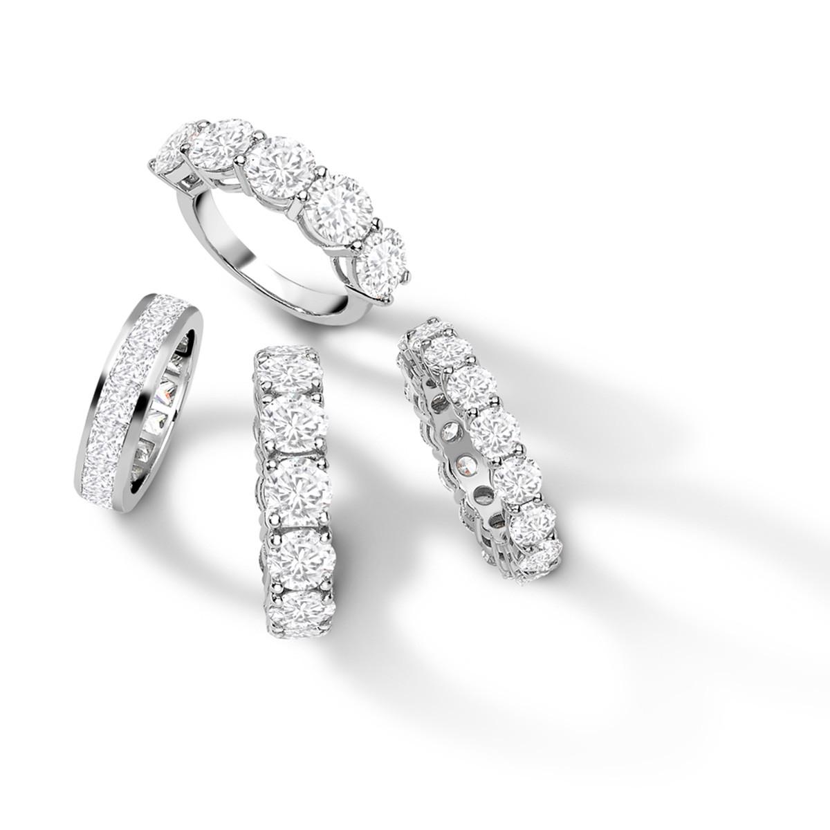 Eternity Rings - Riverton Diamond in Platinum