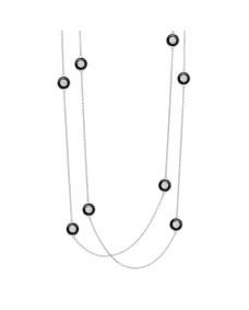 Deakin and Francis - Rhodium Silver Enamel Necklace