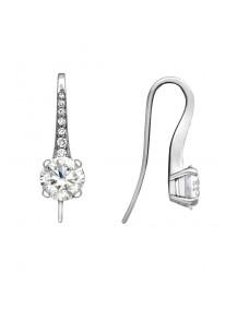 French Wire Drops - Riverton Diamonds in White Gold