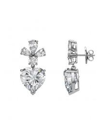 Heart Ear Studs - Riverton Diamonds in White Gold