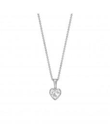 Heart Pendant - Isomorphic Diamonds in White Gold