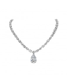 Marquise & Round Necklace - Riverton Diamonds in White Gold