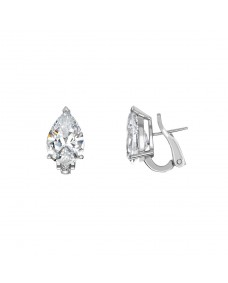 Pear Ear Studs - Riverton Diamonds in White Gold