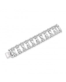 Pear, Marquise and Round Bracelet - Riverton Diamonds in White Gold