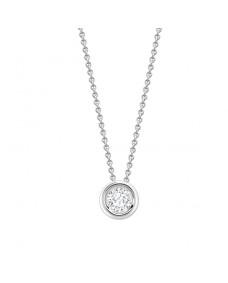 Pendant Round - Riverton Diamonds in White Gold