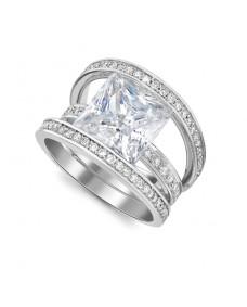 Princess Cut Ring - Riverton Diamond in White Gold