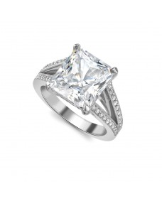 Radiant Cut Ring - Riverton Diamond in White Gold