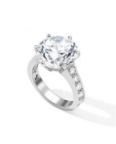 Round Brilliant Cut Ring - Riverton Diamond in White Gold